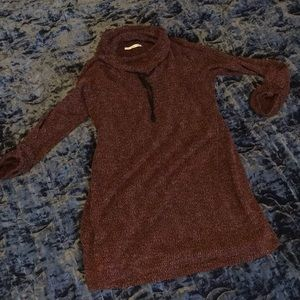 Maurices Wine Colored Knit Tunic Dress
